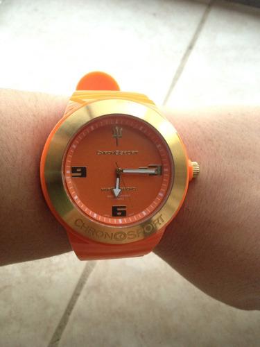 reloj chronosport anaranjado unisex original