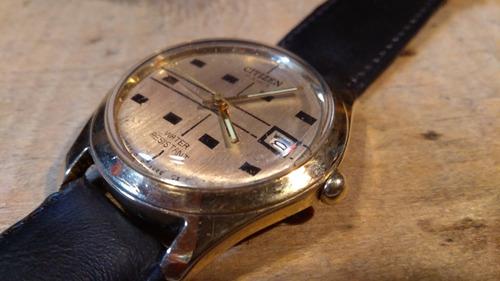 reloj citizen 17 joyas recuerda año 50 chapado en oro