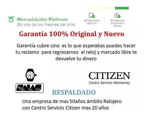 reloj citizen 61073 bi5064-50a hombre acero watchsalas full