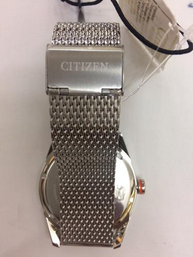 reloj citizen acero eco drive bm6990-55l wr100 garantia