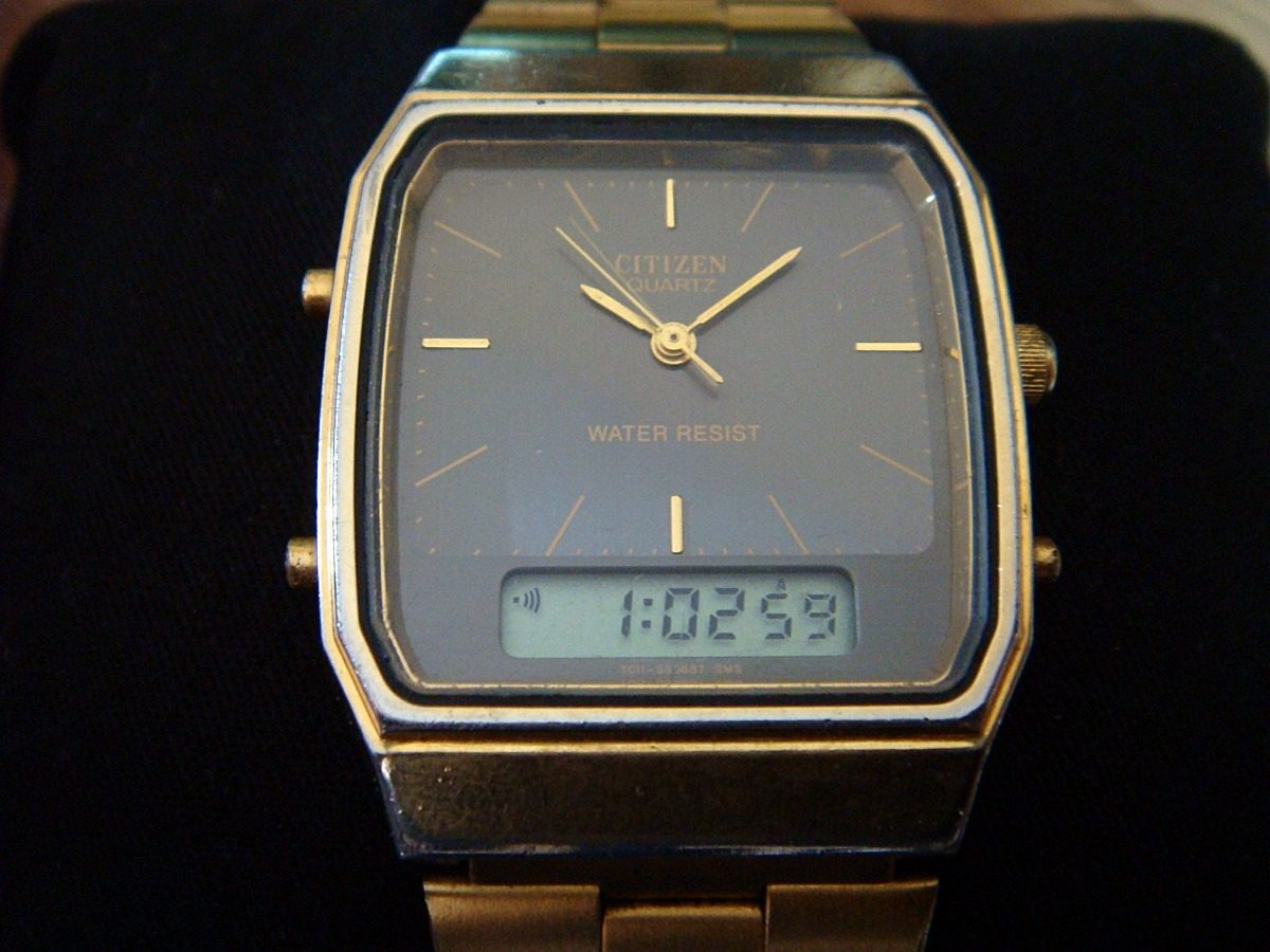 Reloj Citizen Ana Digi Quartz Vintage Colecci 243 N 80s