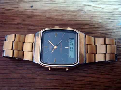 reloj citizen ana-digi. quartz. vintage. colección 80s.