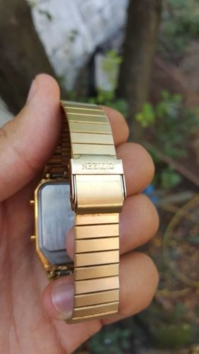 7efbe895143 Reloj Citizen Ana-digi Temp Color Oro Hermoso - S  1.200