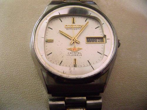 reloj citizen automático vintage 80´s... carátula blanca.