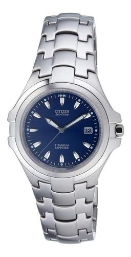 reloj citizen bm1290-54f -54l titanium ecodrive zafiro promo