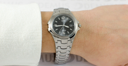reloj citizen bm129054f l titanium eco drive zafiro hombre