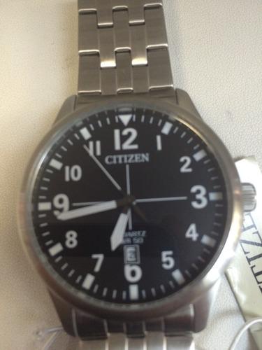 reloj citizen caballero plateado. o r i g i n a l.