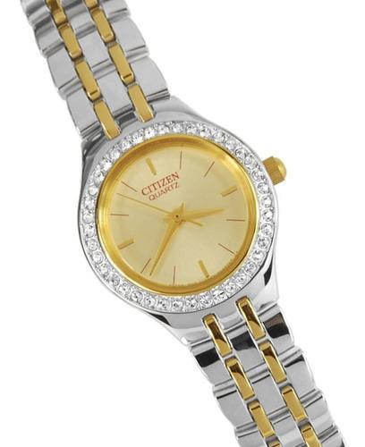 reloj citizen dama ej6044-51p acero agente oficial jr