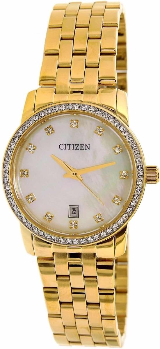 reloj citizen dama eu6032-51 dorado piedras envió gratis. Cargando zoom. 346be74399b0