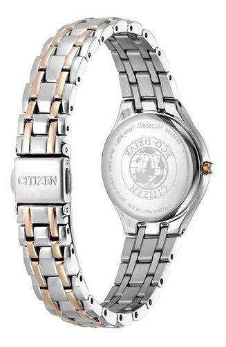 reloj citizen dama ew2480-83a eco drive  oficial jr promo