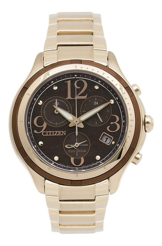 reloj citizen dama rose fb1372-55w wr50 eco drive promo 30%