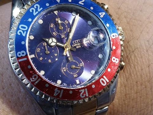 reloj citizen divers tipo rolex wr 100 cronos acero inoxidab