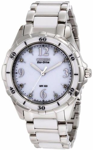 reloj citizen eco-drive acero cerámica mujer em0030-59a