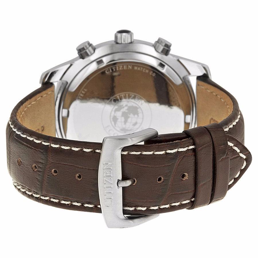 Reloj Citizen Eco Drive Acero Inox Piel Caf 233 Bl5470 06a