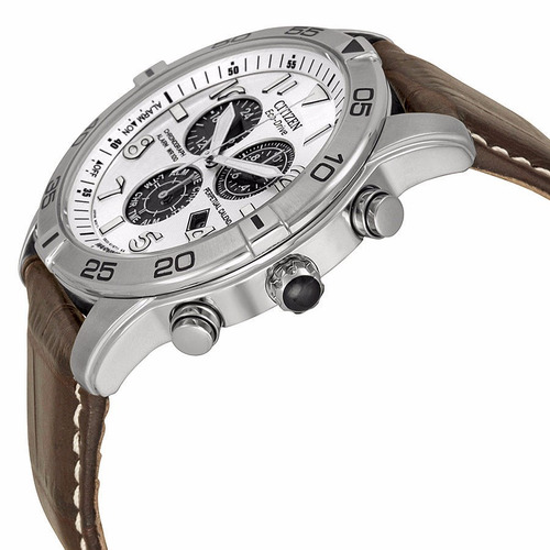 reloj citizen eco-drive acero inox piel café bl5470-06a