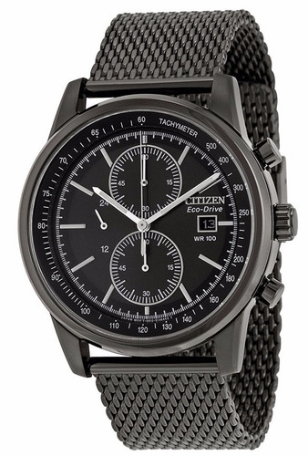 reloj citizen eco-drive acero inoxidable negro ca0338-57e