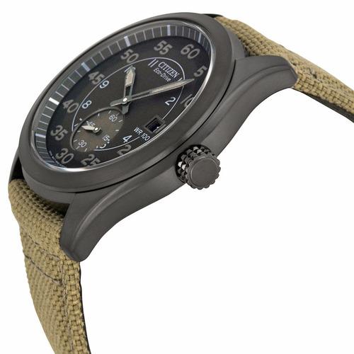 reloj citizen eco-drive acero nylon verde bv1085-31e