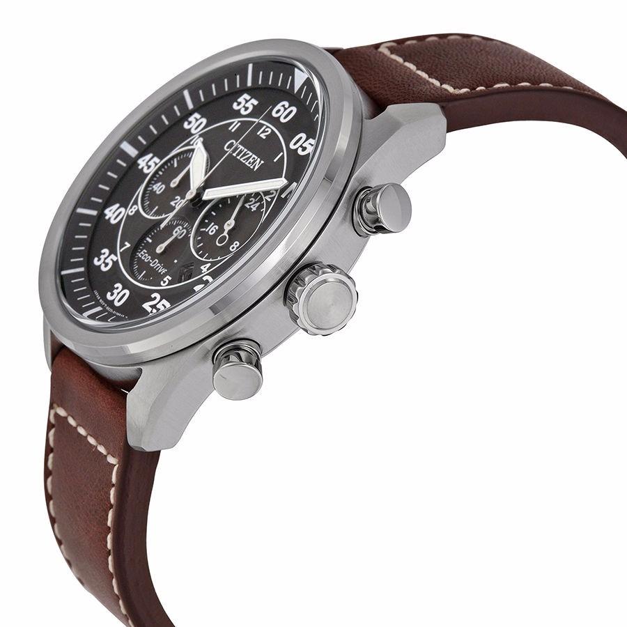 Reloj Citizen Eco Drive Avion Acero Piel Caf 233 Ca4210 24e