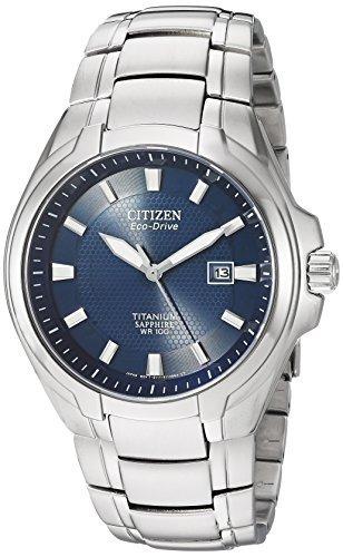 Reloj Citizen Eco drive De Titanio Para Hombre Con Fecha, B
