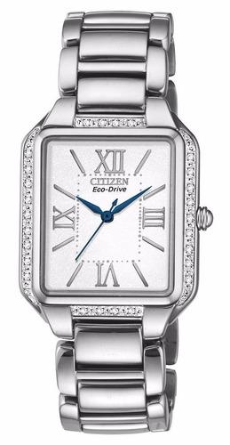 reloj citizen eco-drive diamonds acero mujer em0190-52a