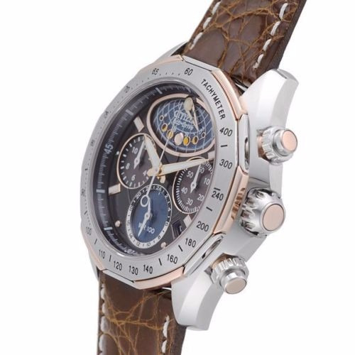 reloj citizen eco-drive moon phase piel café av3006-09e