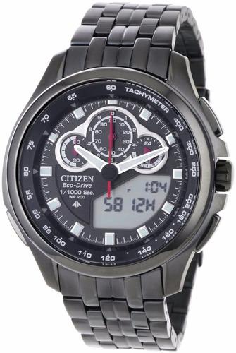 reloj citizen eco-drive pro master acero negro jw0097-54e