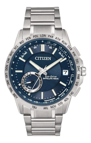 reloj citizen eco-drive satellite wave acero cc3000-89l