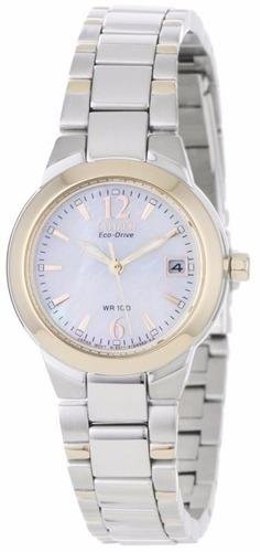 reloj citizen eco-drive silhouette acero mujer ew1676-52d