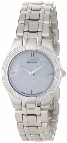 reloj citizen eco-drive stiletto concha mujer eg3150-51d