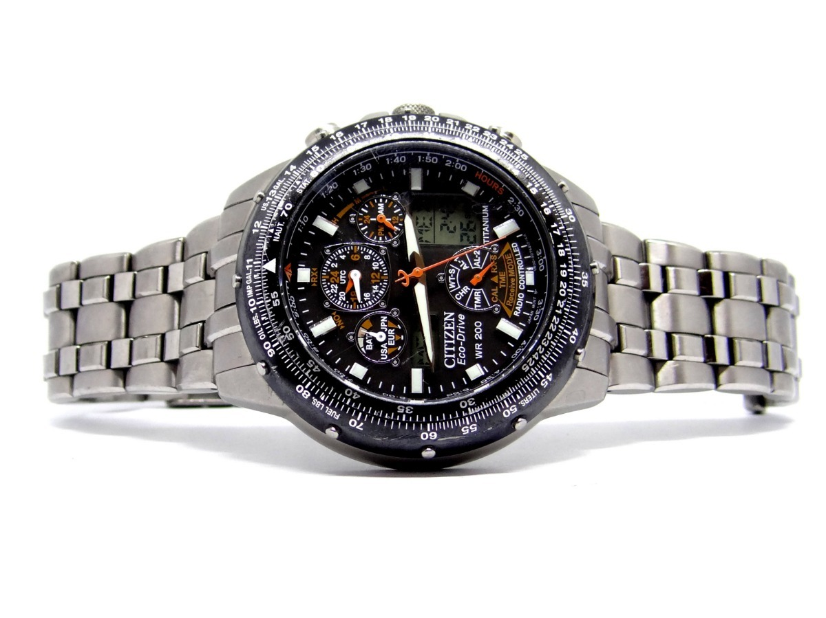 reloj citizen eco drive titanium radio control jy0000-53e. Cargando zoom.