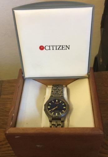 reloj citizen eco-drive titanium. solar. wt 100
