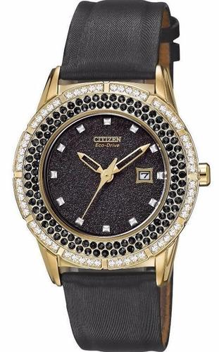 reloj citizen eco-drive ttg acero satín negro fe1112-06e