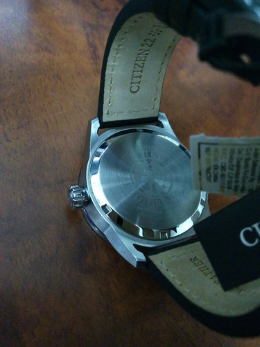 reloj citizen eco-drive/avion leather black aw1361-01e nuevo