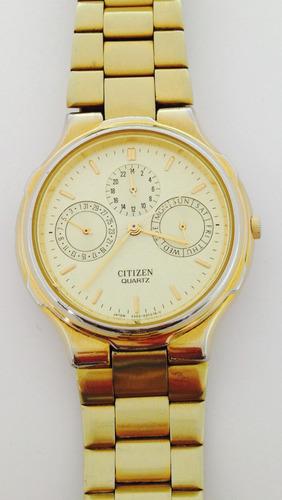 reloj citizen en chapa de oro 18k (inv 1620)