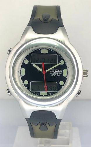 reloj citizen hombre ana-digi aluminio jm905001e