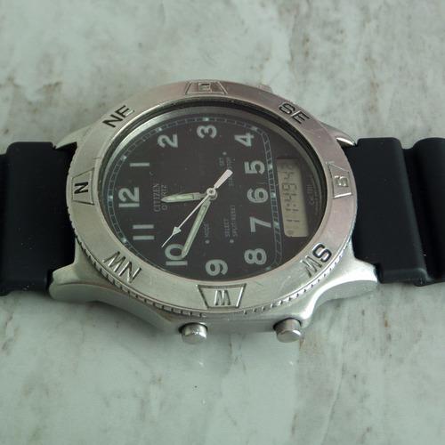 reloj citizen militar  digital  en acero  de coleccion jumbo