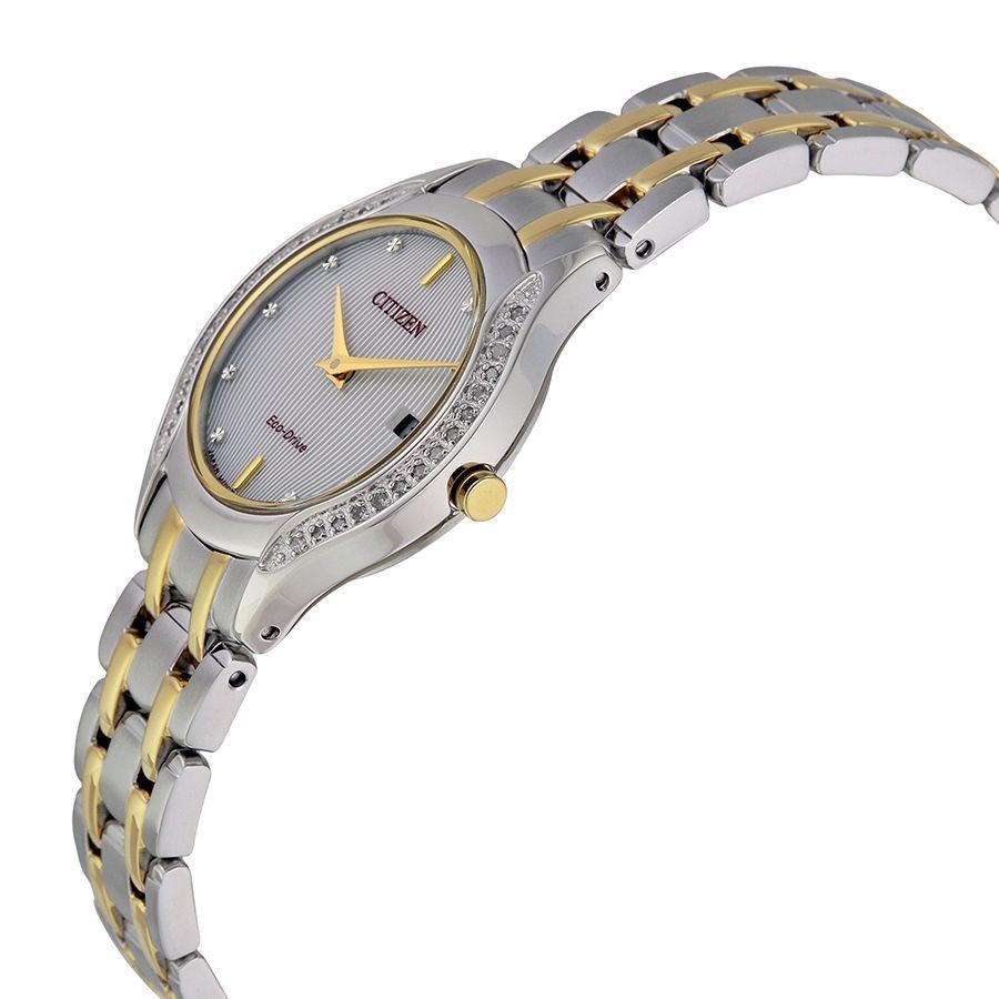 Reloj Citizen Eco Drive Acero Dorado Mujer Ga1064 56a