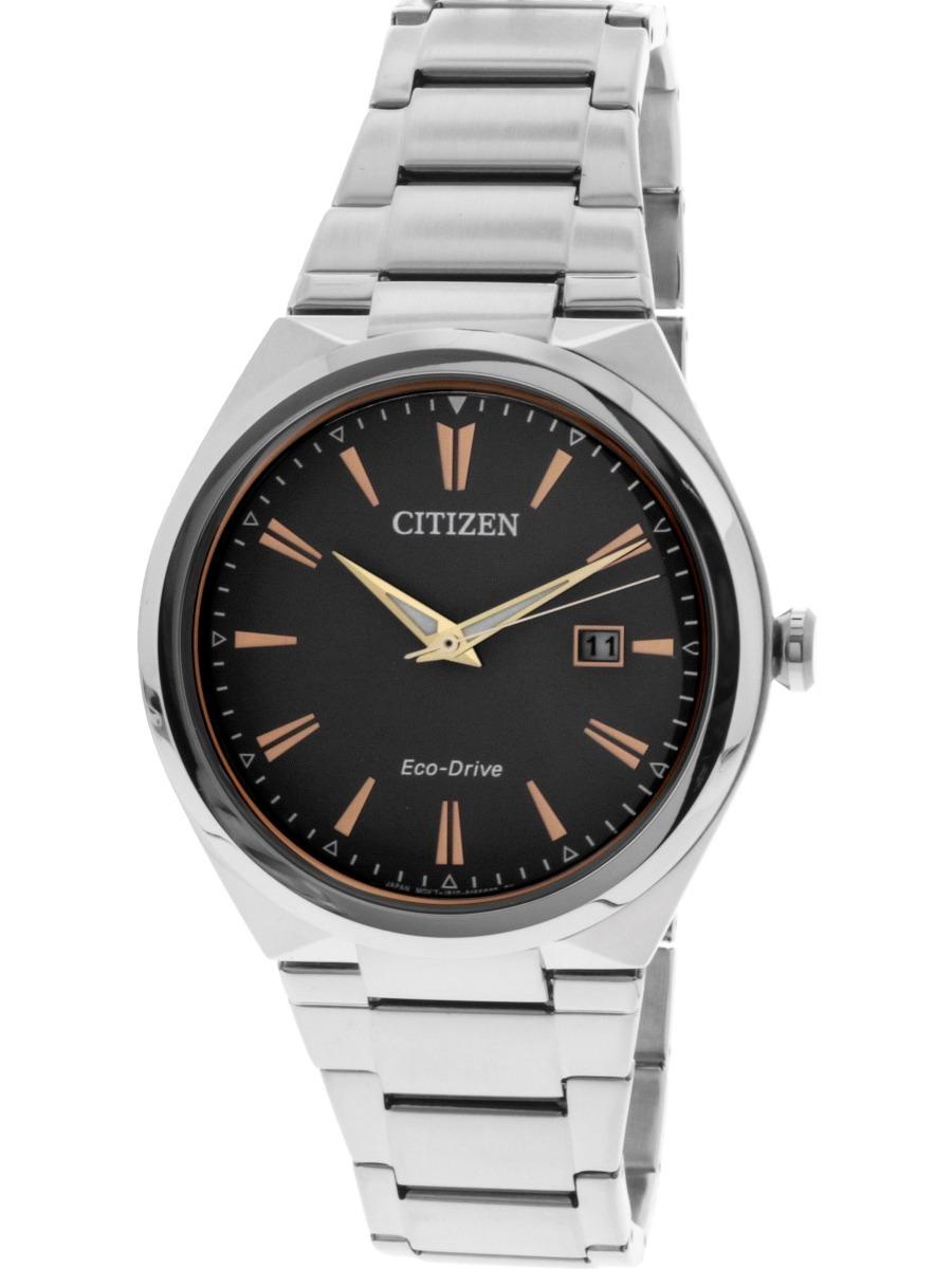 e0fd5650587 reloj citizen para hombre eco-drive aw1376-55h, de acero. Cargando zoom.