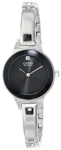 reloj citizen plateado femenino