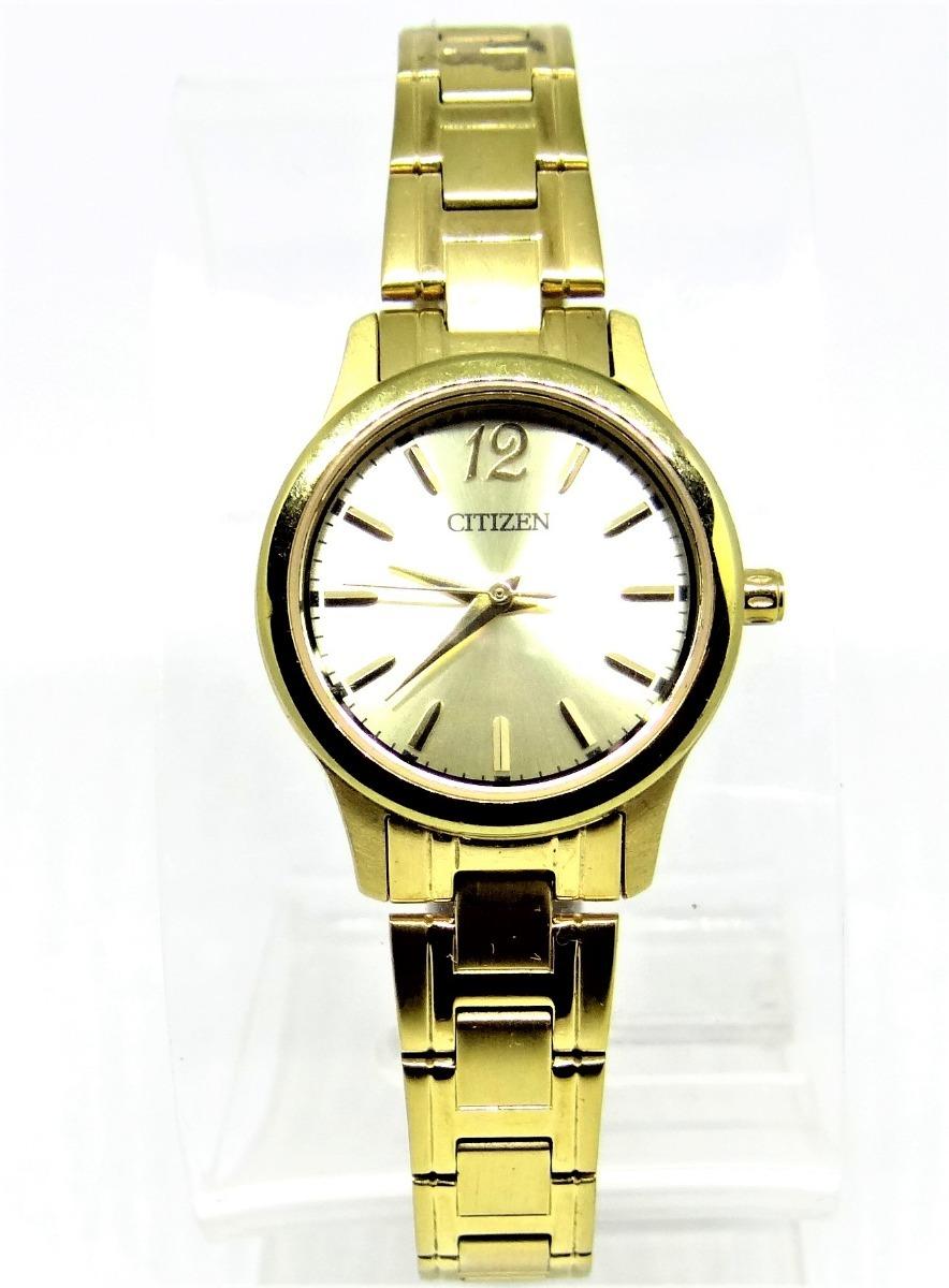 bb06cb0b613f reloj citizen quartz dama dorado resistencia del agua 5 metr. Cargando zoom.