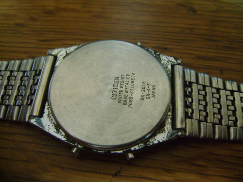 reloj citizen quartz digital. vintage 70s.