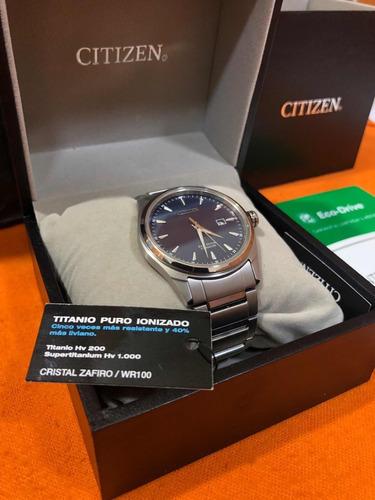 reloj citizen  súper titanium cristal zafiro bm736082l