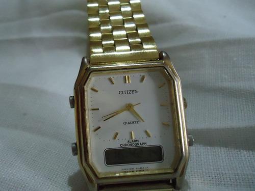 reloj citizen vintage 70´s ana digi dorado de colección