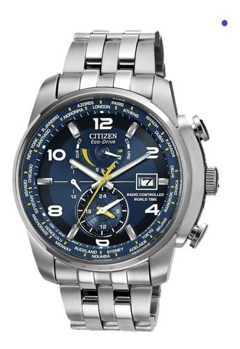 reloj citizen world time atomic edicion azul limitada
