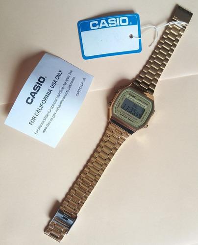reloj clasico casio dorado a168wg vintage retro envio gratis