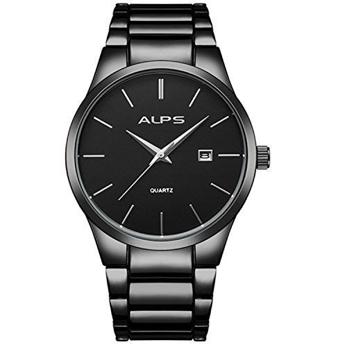 reloj clásico cuarzo analógico acero inoxidable p/hombre