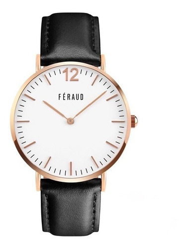 reloj clasico cuero minimalista hombre feraud f5510rgn envio