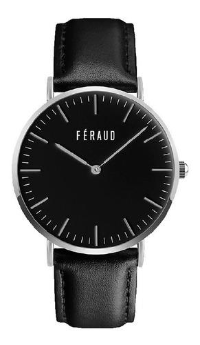 reloj clasico cuero minimalista hombre feraud f5510sln