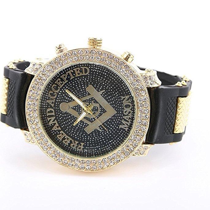 07f2eb8dd3e8 reloj masónico clásico incrustaciones cristal diamond hombre · reloj  clásico hombre