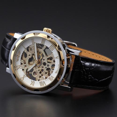 reloj clásico tipo oro excelente y hermoso! transparente